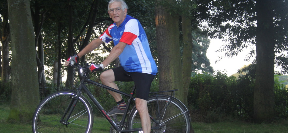 Care manager bows out with 300 mile charity cycle