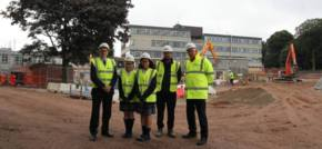 Kier's sustainable build project's excellent progress at St.Julie's High School