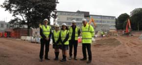 Kier's sustainable build project's excellent progress at St.Julie's High School