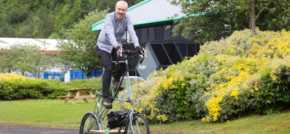 Charity Bike Ride is A Tall Story