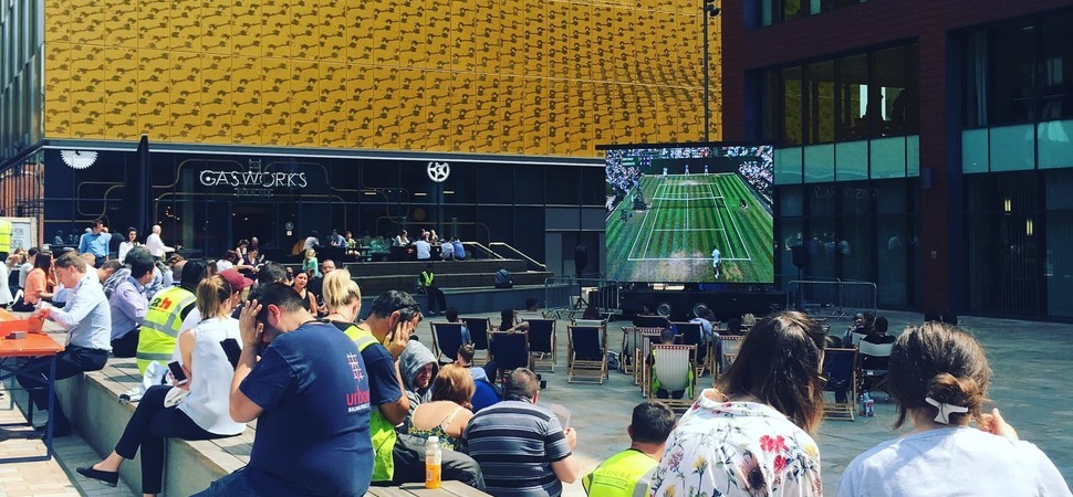 Wimbledon fever takes over at First Street Manchester