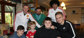 Wayne Rooney and Marouane Fellaini Deliver Christmas Gifts To Francis House