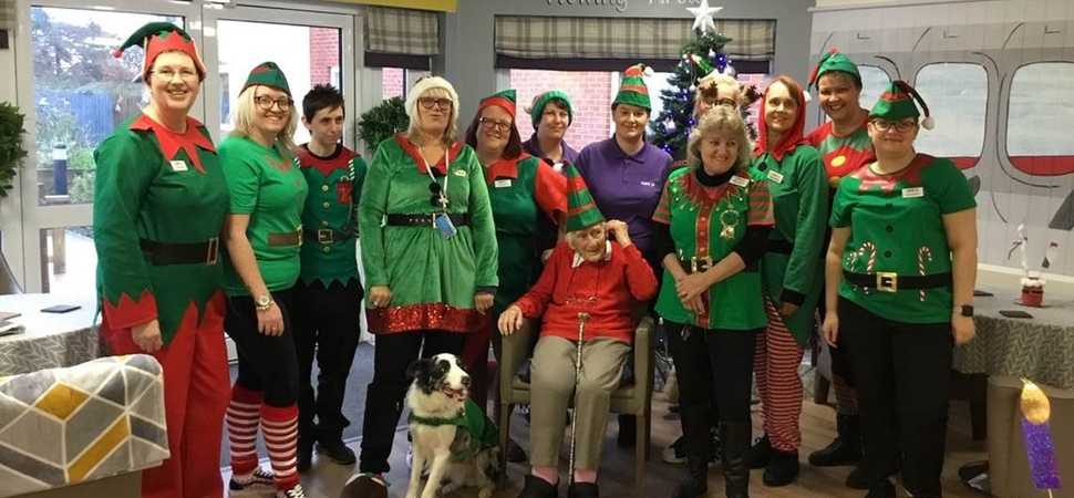 Ipswich care home have them-elves a merry little Christmas