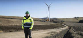 Key milestone achieved at Tullymurdoch wind farm