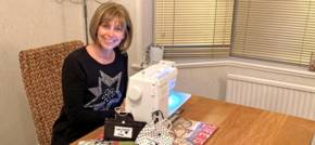 Sewing to say thank you to Francis House hospice