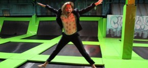 Sports Minister Tracey Crouch opens new £1m Flip Out trampoline park in Chatham