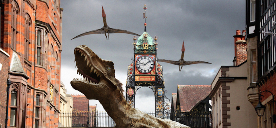 Chester's high street braced for a dinosaur invasion!