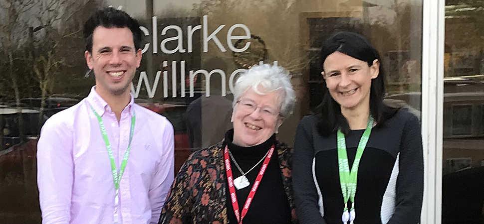 Clarke Willmott sponsors Brain Tumour Support Worker