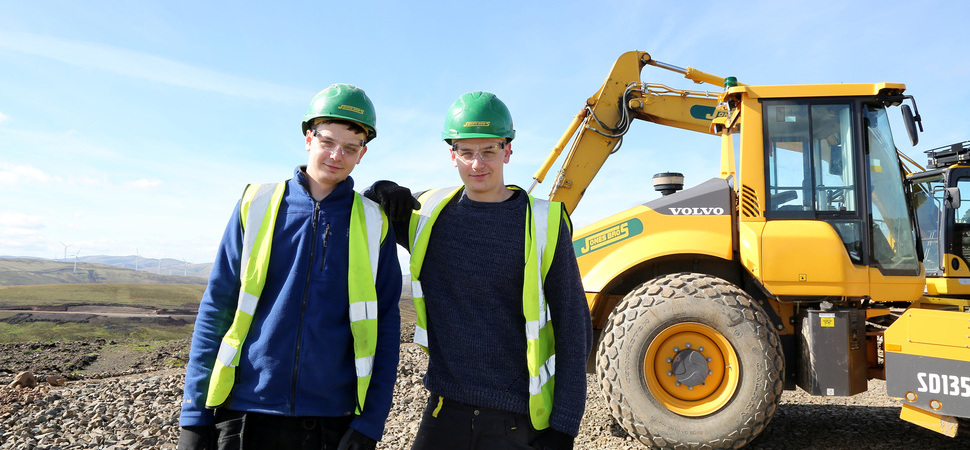 Jobs joy for teenage twins at Clyde wind farm extension project