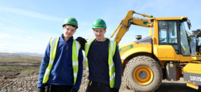 Jobs joy for teenage twins at Clyde wind farm