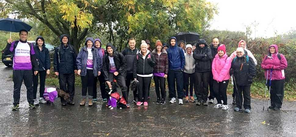 UNW colleagues brave Storm Callum to raise £8000 for local MS charity