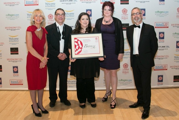 Delifonseca receives Bronze Award at the 2015 VisitEngland Awards for Excellence