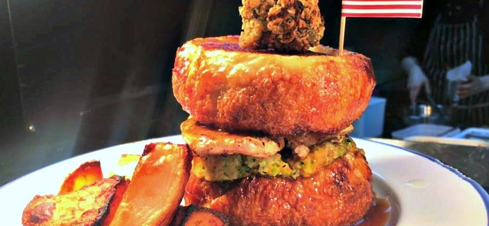 Wall of Fame unveils all-American alternative to traditional Sunday roast