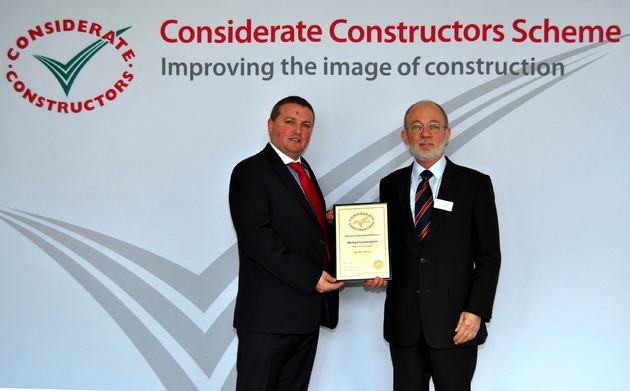 Wates Living Space wins Considerate Constructors Scheme Gold in Manchester