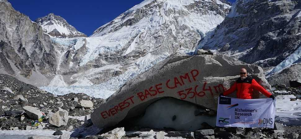 Business consultant Mitchell on target to raise more than £5,000 after challenging Everest charity trek