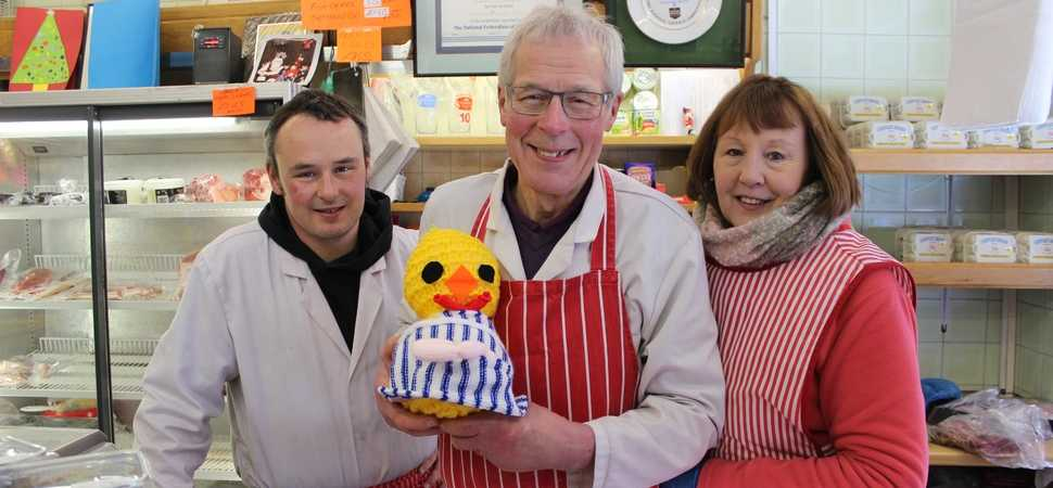 Traders host knitted charity chicks for Easter hunt