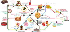 Alternative food map quirky Christmas foods