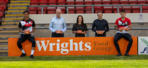 Wrights Food Group scores for Crewe Alexandra as official hospitality sponsor