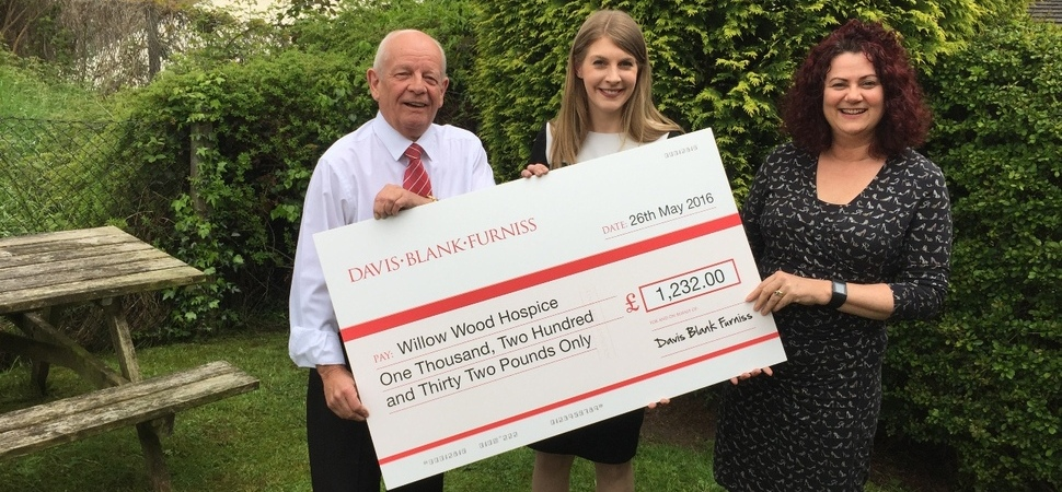 Davis Blank Furniss Raises £1,232.00 for Willow Wood Hospice