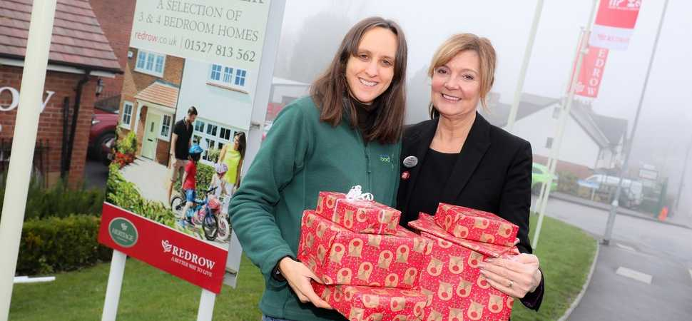 Redditch housebuilder supports foodbank ahead of busy Christmas period